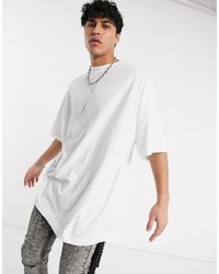 ASOS – Langes, extremes Oversize-T-Shirt - Weiß