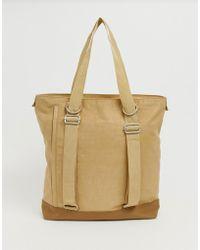 ASOS Tote Backpack Hybrid In Nylon - Natural