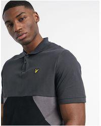 Lyle & Scott Trio Geo Polo Shirt - Black