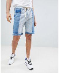 Boohoo   Shorts In Bleach Wash   Lyst