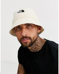 The North Face Sombrero de pescador en blanco vintage
