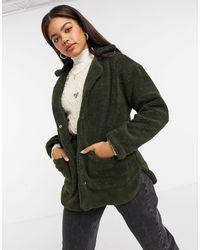 Brave Soul Куртка Из Искусственного Меха Kelsea-зеленый