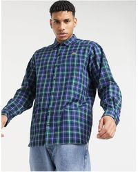 Lacoste Свободная Легкая Фланелевая Рубашка Live-темно-синий
