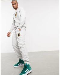 adidas Originals Серые Флисовые Джоггеры С Университетской Эмблемой От Комплекта -серый