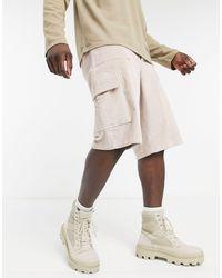 ASOS Cord Cargo Shorts - Natural