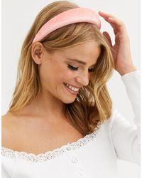 ASOS Padded Headband - Pink