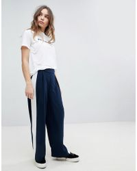 ONLY - Wide Leg Trouser With Side Stripe - Lyst