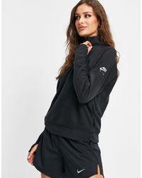 Nike Черный Свитшот Под Куртку На Короткой Молнии Air-черный Цвет