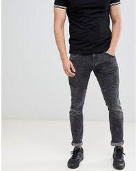 Blend - Black Washed Skinny Biker Jeans - Lyst