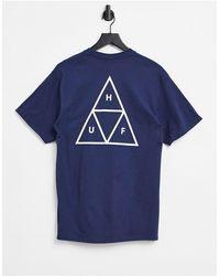 Huf Essentials Triple Triangle T-shirt - Blue
