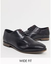River Island Garçons Smart en Cuir Marron Pointure 2 Taille 10 Mariage Chaussures