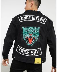 Wesc Once Bitten Denim Jacket - Black