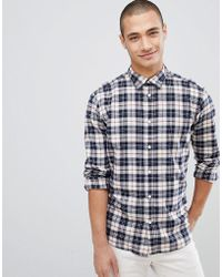 SELECTED - Check Shirt In Slim Fit - Lyst