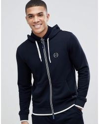 Armani Exchange | Chest Logo Hoodie Sweat In Navy | Lyst