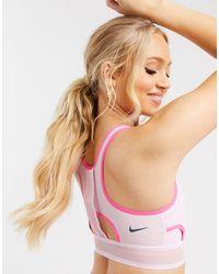 Nike - Розовый Бюстгальтер Со Средней Степенью Поддержки Ultrabreathe - Lyst