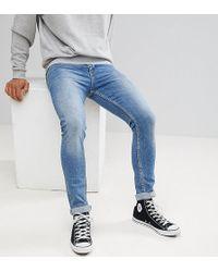 Noak Noak Super Skinny Jeans In Vintage Mid Wash - Blue