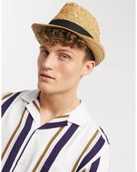 Burton Светло-коричневая Соломенная Шляпа -светло-коричневый - Металлик