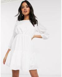 AX Paris Tiered Mini Dress - White