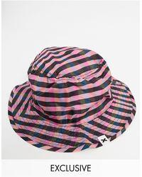 Collusion Bucket Hat Met Gingham-ruit Van Combi-set - Meerkleurig