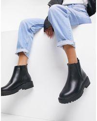 Nouveau débardeur femme cheville bottes chelsea chunky talon haut compensé plateforme chaussures taille