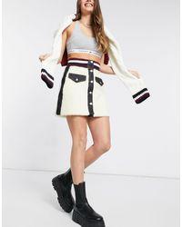 Tommy Hilfiger Teddy Fur Mini Skirt - White