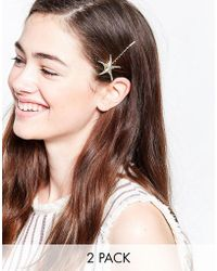 Nylon - 2 Pack Starfish Hair Slides - Lyst