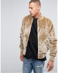 The New County Teddy Bomber Jacket - Natural