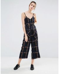 Sportmax Code - Zitto Check Jumpsuit - Lyst