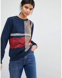 Sportmax Code - Fida Check Sweatshirt - Lyst
