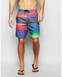 Billabong Tribong Lo Tides Faded 18 Inch Board Shorts - Multi - Blue