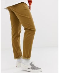 37e83acf8746 ASOS Plus Skinny Chinos In Dark Brown in Brown for Men - Lyst