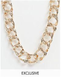 Vero Moda Эксклюзивное Золотистое Ожерелье-цепочка С Крупными Звеньями -золотистый - Металлик