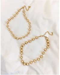 ASOS - Pack Of 2 Ball Chain Necklaces - Lyst