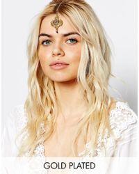 Rock N Rose Ora Gemstone Tikka Hairclip - Metallic