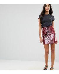 ASOS - Sequin Tulip Mini Skirt - Lyst