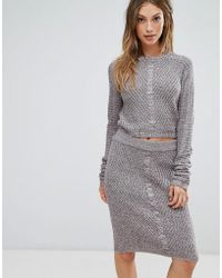 Bellfield - Orta Rib And Cable Mix Knit Jumper Top - Lyst