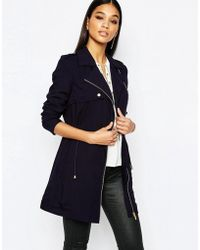 Lipsy - Relaxed Drape Parka With Gold Hardware - Lyst