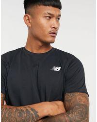 New Balance Running Heathertech Logo T-shirt - Black