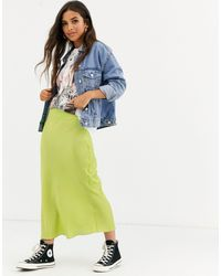 Free People Normani - Satijnen Midirok - Groen
