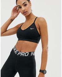 Nike Pro – Indy – Sport-BH - Schwarz
