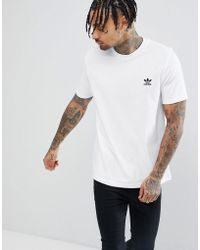 adidas Originals - T-shirt With Logo Embroidery White - Lyst