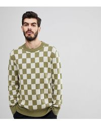 Nudie Jeans | Co Elof Checkerboard Jumper | Lyst