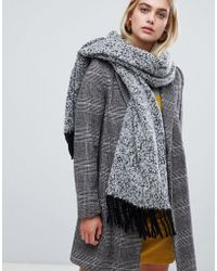 Pieces - Chunky Marl Scarf - Lyst