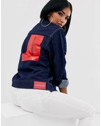 Calvin Klein Джинсовая Куртка С Логотипом -темно-синий