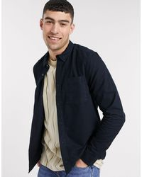 River Island Long Sleeve Regular Fit Oxford Shirt - Blue