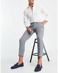 Burton Burton - Pantaloni skinny testurizzati grigio chiaro