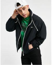 Lacoste Черная Классическая Куртка С Убирающимся Капюшоном -черный