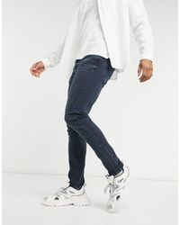 Levi's 510 Skinny-fit Jeans Donkere Vintage Wash - Blauw