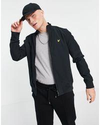 Lyle & Scott Мягкая Куртка На Сквозной Молнии С Высоким Воротником -черный