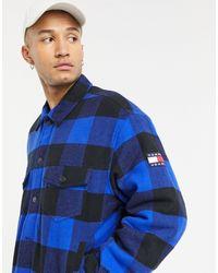 Tommy Hilfiger Синяя Куртка На Подкладке В Шотландскую Клетку -голубой - Синий
